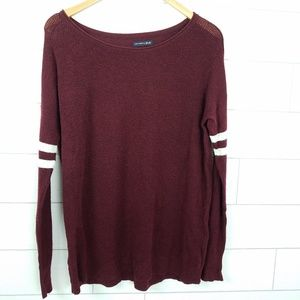 AE Ahhmazingly Soft Sweater Burgundy Red Medium